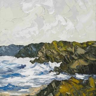 'Waves, Caswell Bay' by Martin Llewellyn (born 1963)