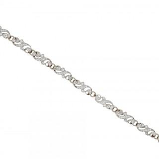 Edwardian diamond bracelet, circa 1910.