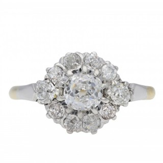 Edwardian diamond coronet cluster ring, circa 1905.