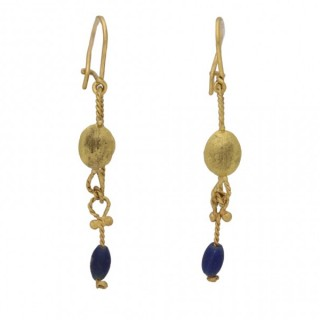 Ancient Roman gold earrings, circa 1st-2nd century AD.
