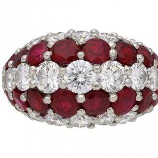 Cartier ruby and diamond ring  circa 1950.