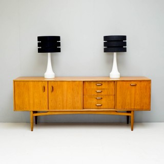 Pair of Swedish Opaline Glass Lamps