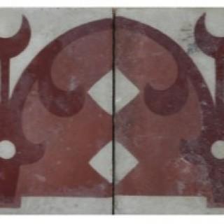 Reclaimed Encaustic Cement Floor or Wall Border Tiles 2.68 m2 (28 ft2)