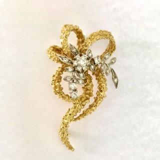 Diamond and Gold Brooch