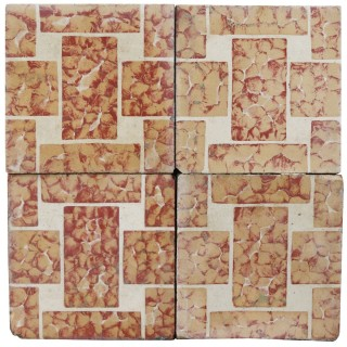 Reclaimed Geometric Encaustic Cement Floor or Wall Tiles 7.6 m2 (81 ft2)