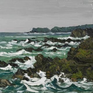 'Rough Sea, Trearddur Bay' by Martin Llewellyn (born 1963)