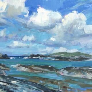 'The Isles of Glassilaun, Connemara' by Tom Hoar (born 1978)