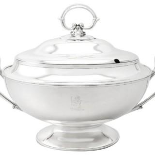 Sterling Silver Soup Tureen - Antique Edwardian (1902)