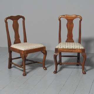 Pair of Queen Anne Style Mahogany Children's Chairs