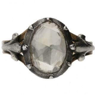 Georgian rose cut diamond ring, circa 1820.