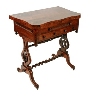 Rosewood Turn Over Top Writing Table