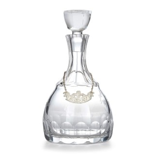 Cut glass and silver sherry decanter by Roberts & Belk