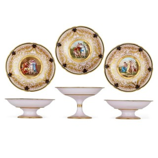 Set of three porcelain tazze by Royal Vienna