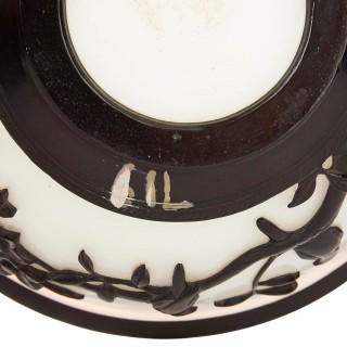 Black and white Chinese Peking glass bowl
