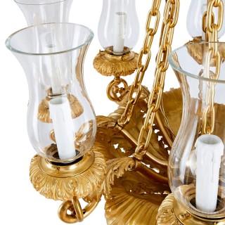 Antique French gilt bronze Louis Philippe chandelier