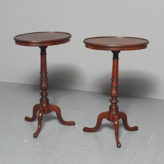 Georgian Pair of Mahogany Occasional Tables from Dunrobin Castle