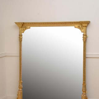 Large Victorian Giltwood Mirror