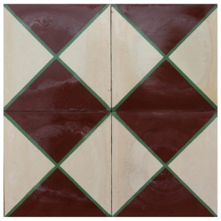 Reclaimed Geometric Encaustic Cement Floor or Wall Tiles 4.8 m2 (52 ft2)