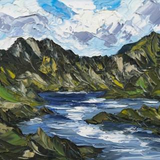 'Clouds Over Lake Llyn Idwal' by Martin Llewellyn (born 1963)
