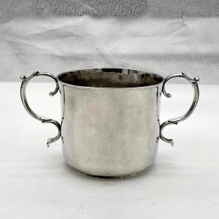 17th Century Antique Charles II Silver Porringer London 1683 Francis Singleton