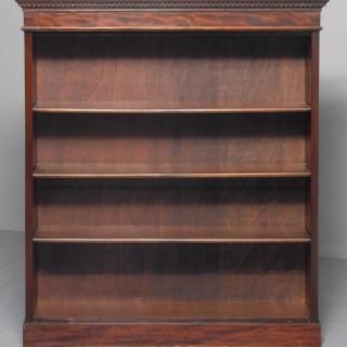 Late Edwardian Mahogany Open Bookcase