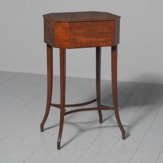 George III Mahogany Work Table / Side Table