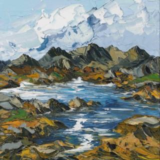 'Towards Snowdon Horseshoe' by Martin Llewellyn (born 1963)