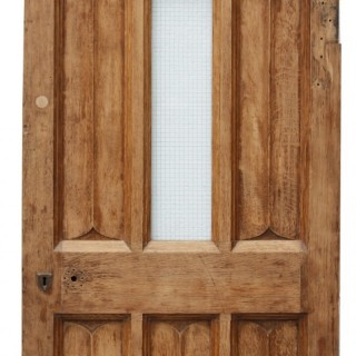 An Antique Arched Oak Exterior Door