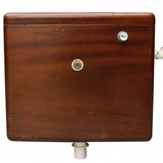 An Antique Shanks & Co. Mahogany Toilet Cistern