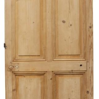 A Reclaimed Victorian Style Pine Interior Door