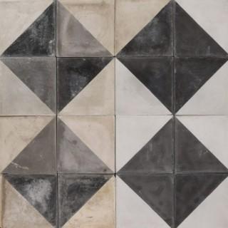 Reclaimed Grey Encaustic Cement Floor or Wall Tiles 12.1 m2 (130 ft2)