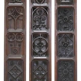 English Carved Oak Wall Panels