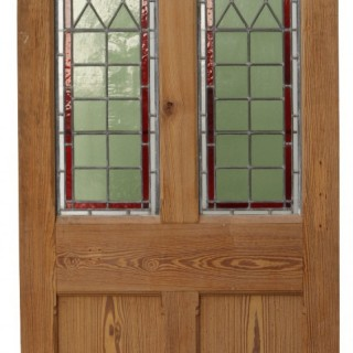 A Reclaimed Interior / Exterior Stained Glass Door