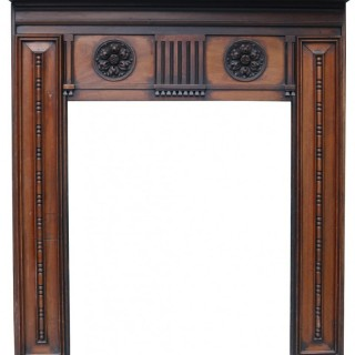 Georgian Style Carved Mahogany Fireplace