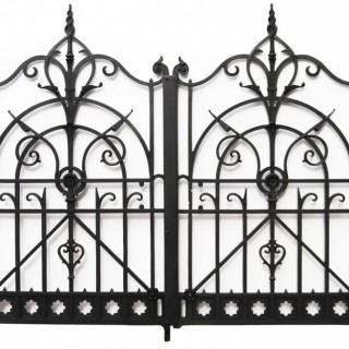 A Set of Victorian Walter MacFarlane Cast Iron Gates