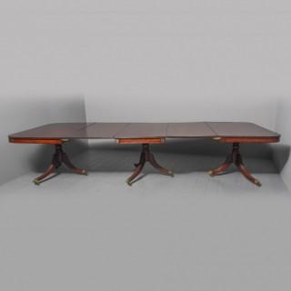 Regency Mahogany 3 Pillar Dining Table
