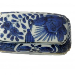 Ming Blue and White Kraak Porcelain Betel Nut Box