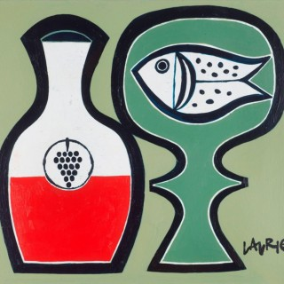 'Fish and Wine' by Simon Laurie RSW RGI (born 1964)