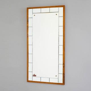 Mid Century Swedish Mirror by Atelje Glas and Tra