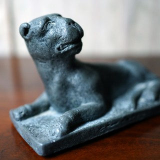 A George III Cast Lead Model of a Panther c.1790