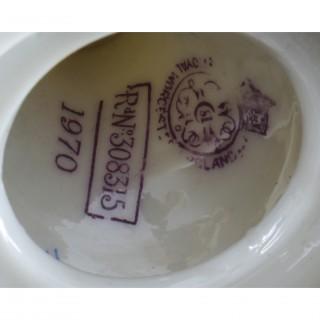 Antique Pair Royal Worcester Porcelain Two Handled Pedestal Ovoid Vases 19th C