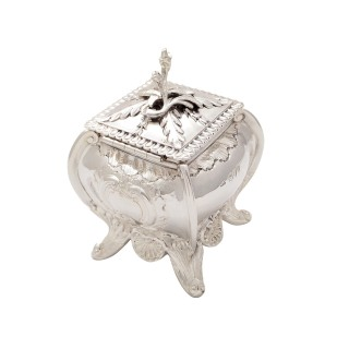 Antique Victorian Sterling Silver Caddy 1893