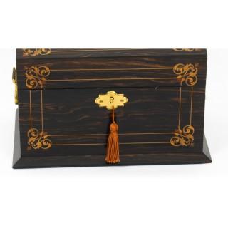 Antique Victorian Coromandel Stationery Casket C1870