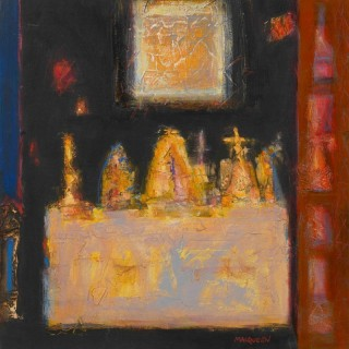 'Side Altar, Spoleto' by Charles MacQueen RSW RGI (born 1940)