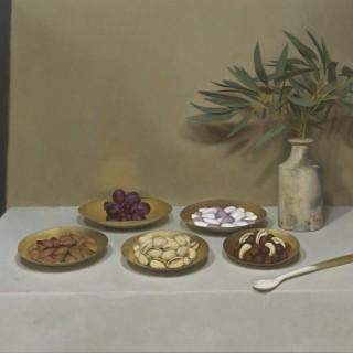 'Five Golden Dishes' by Siân Hopkinson (born 1967)
