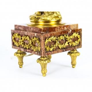 Antique Pair French Louis Revival Ormolu Cherub Table Lamps 19th C