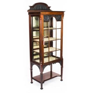 Antique Victorian Vitrine Display Cabinet 19th Century