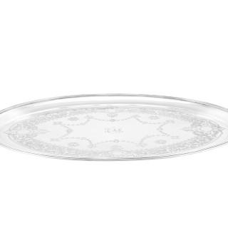 Sterling Silver Tea Tray by Walter & John Barnard - Antique Victorian (1888)