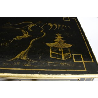 Antique Chinoiserie Black Lacquered Chest c.1825 19th C