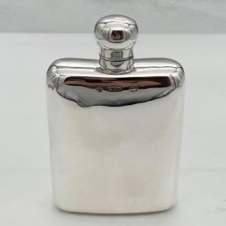 Antique Edwardian Sterling Silver Hip Flask Chester 1905 Asprey & Co